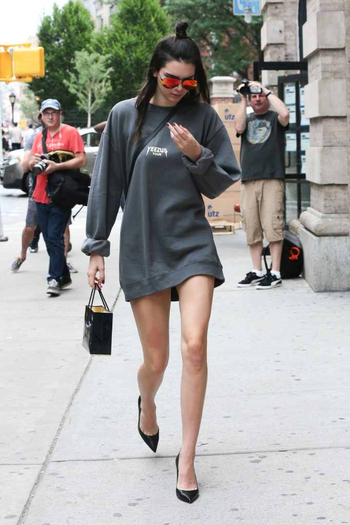 Kendall Jenner in the Sweatshirt Dress - Vogue