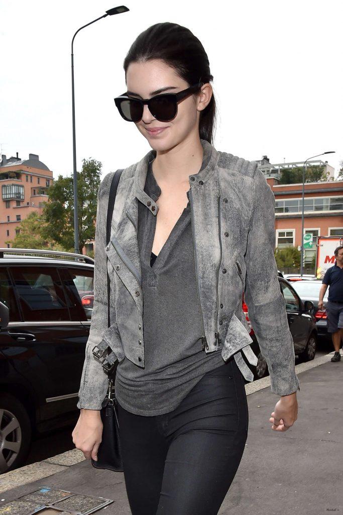 Kendall Jenner in Tights at Milan Fashion Week 2014 -12 - GotCeleb