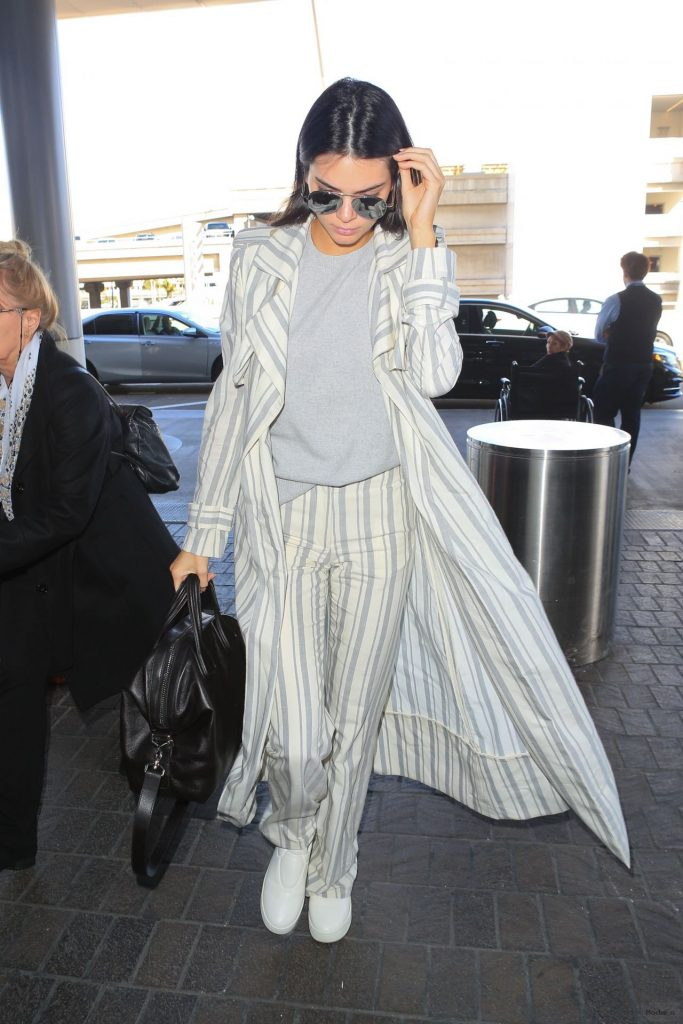 Kendall Jenner Street Fashion - at LAX AIrport in Los Angeles, 1/21/