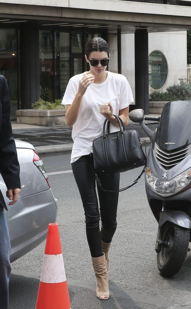 Kendall Jenner Street Fashion - Paris, July 2015