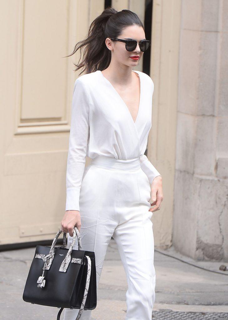 Kendall Jenner's Dark Bob at Chanel - Vogue