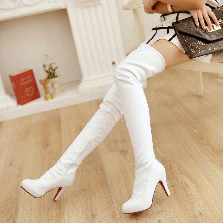Beyaz-Uzun-Çizmeler-2 - beyaz spor ayakkabı beyaz çizme beyaz bot beyaz ayakkabı modelleri